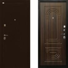 Металлическая дверь Ратибор Оптима 3контура Орех Бренди