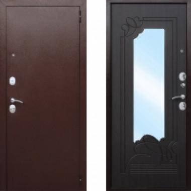 Металлическая дверь СТОП Ампир Зеркало Венге