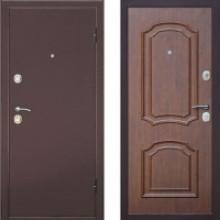 Металлическая дверь Интерио Темный Орех