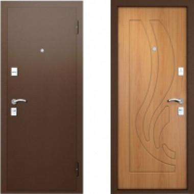 Металлическая дверь Вардо Ладья Миланский Орех