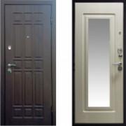 Металлическая дверь СТОП Квадро с зеркалом