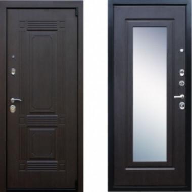 Металлическая дверь АСД Викинг Венге с зеркалом