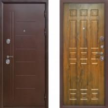 Металлическая дверь Атлант Троя Золотистый Дуб