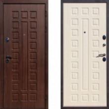 Металлическая дверь ЮГ Крит Орех Кьяро (Беленый Дуб)
