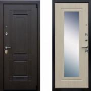 Металлическая дверь АСД Викинг Беленый дуб с зеркалом