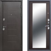 Металлическая дверь Атлант Зеркало Макси Венге