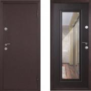 Металлическая дверь Континент Элегия с зеркалом венге
