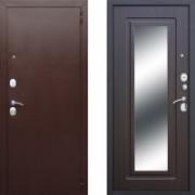 Металлическая дверь Атлант Медь Зеркало Венге