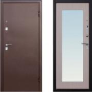 Металлическая дверь Йошкар Царское Зеркало Макси Беленый Дуб