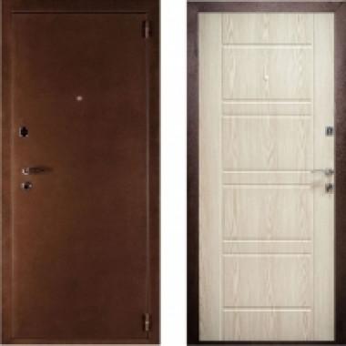 Металлическая дверь Комфорт Беленый дуб