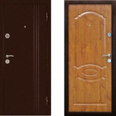 Металлическая дверь Континент Экстра Золотистый Дуб
