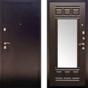 Металлическая дверь Дива МД-03 с зеркалом