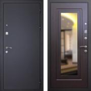 Входная металлическая дверь с зеркалом  Art-lock 1 Венге