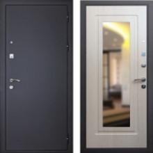 Входная металлическая дверь с зеркалом Art-lock 1 Беленый дуб