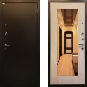 Входная металлическая дверь c зеркалом Ратибор Милан ЭкоДуб