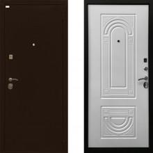 Входная металлическая дверь Ратибор Оптима 3контура Матовый Белый