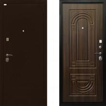 Входная металлическая дверь Ратибор Оптима 3контура Орех Бренди