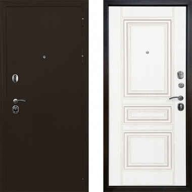 Входная металлическая дверь Ратибор Троя 3контура Матовый Белый