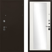 Входная металлическая дверь Ратибор Троя 3контура с зеркалом Матовый Белый