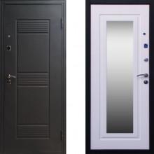 Металлическая входная дверь с зеркалом СТОП Стандарт зеркало Беленый Дуб