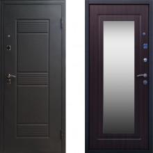 Металлическая входная дверь с зеркалом Стоп Стандарт Зеркало Венге