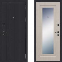 Входная металлическая дверь Страж Классика с зеркалом Беленый дуб