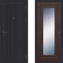 Входная металлическая дверь Страж Классика с зеркалом Венге