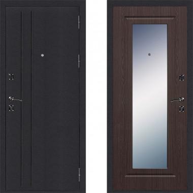 Металлическая входная дверь Страж Классика с зеркалом Венге