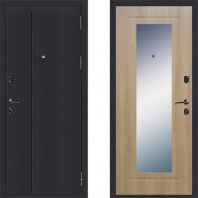 Входная металлическая дверь Страж Классика с зеркалом Золотистый Дуб