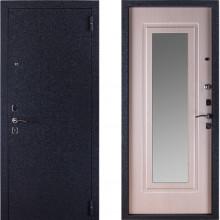 Входная металлическая дверь с зеркалом Триумф Крокодил Беленый Дуб
